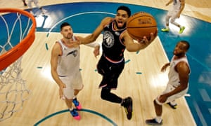 Karl-Anthony Towns in action during this year's All-Star game