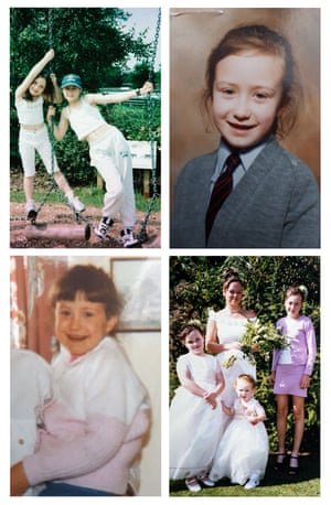 Top left: Lydia McCartney and Aimee; bottom right: Lydia, Cathy Teese, Autumn McCartney and Aimee at Cathy's wedding in 1999.