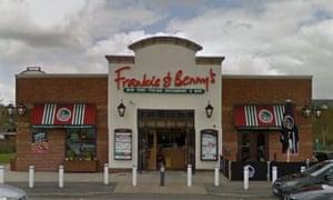 The Frankie & Benny's restaurant in Sandbrook retail park, Rochdale.