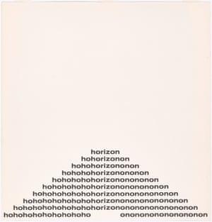 Ho/Horizon/On Ian Hamilton Finlay (Scottish, 1925–2006) From The Blue and the Brown Poems (New York: Atlantic Richfield Company & Jargon Press, 1968)