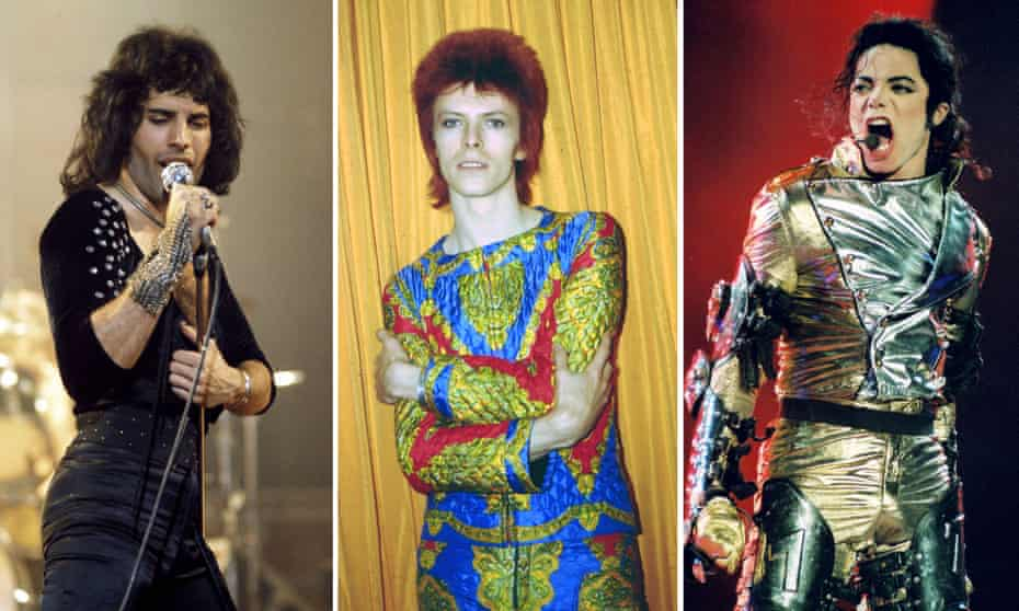 Real estates ... Freddie Mercury, David Bowie and Michael Jackson.