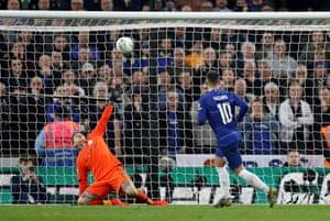 Chelsea's Eden Hazard scores from the penalty spot