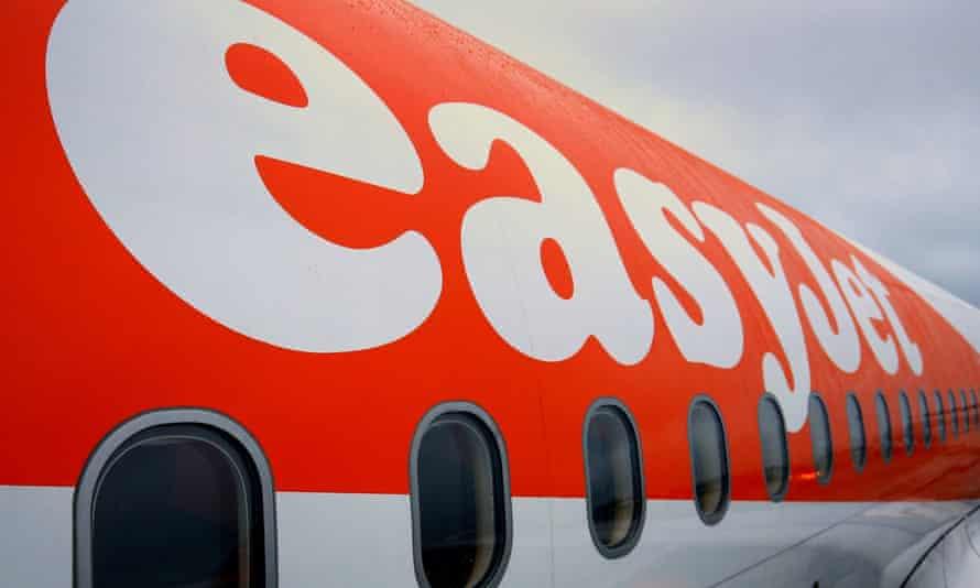 an easyJet aeroplane at Gatwick Airport