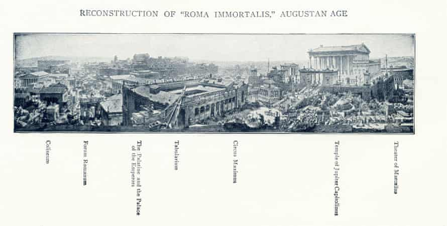 An 1899 illustration depicting Rome in the time of the Emperor Augustus.