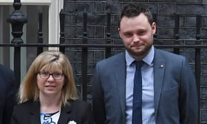 Maria Caulfield and Ben Bradley in Downing Street