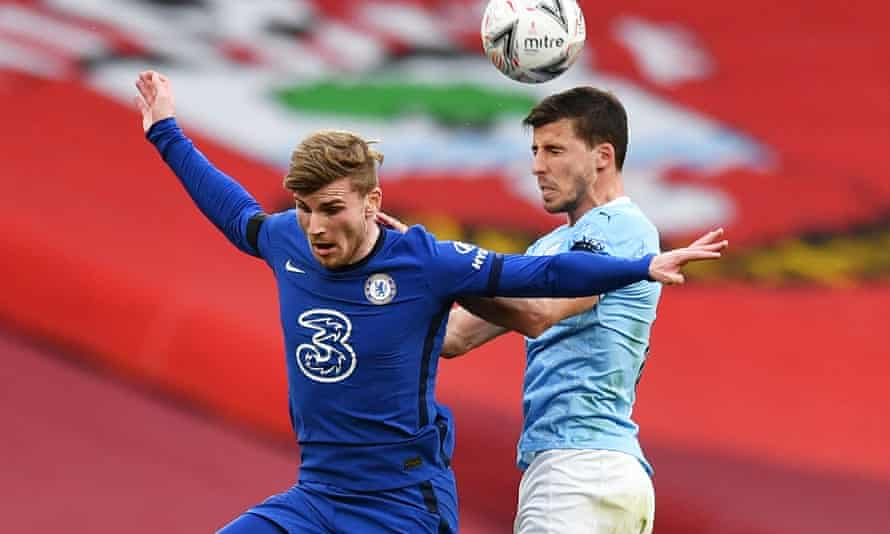Chelsea's Timo Werner has struggled since joining the club but shone at Wembley