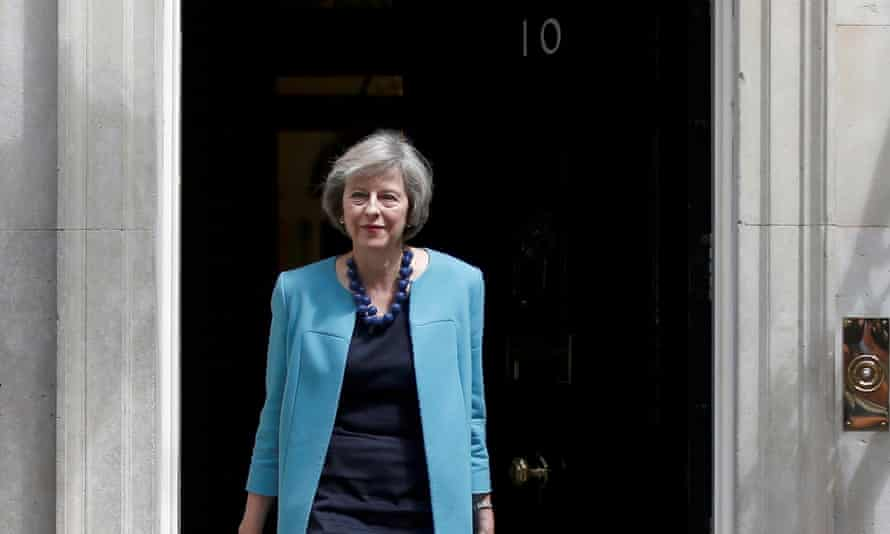 Theresa May leaving No 10 Downing Street