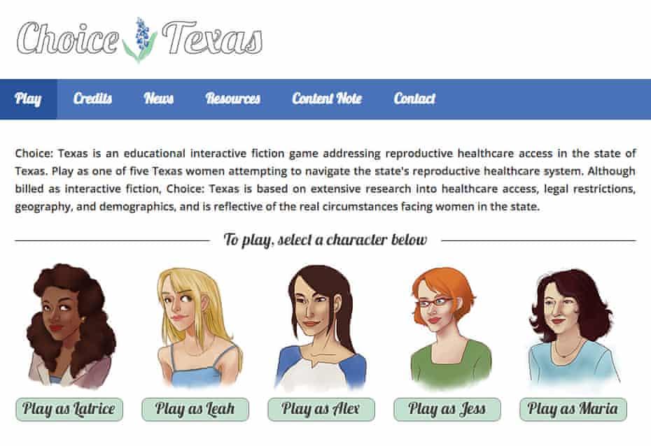 Choice: Texas presents scenarios through the eyes of five pregnant women.