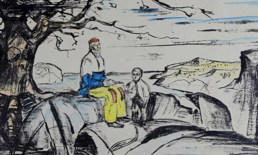 Detail from the Historien lithograph by Edvard Munch, which was stolen from a gallery in Oslo in 2009.