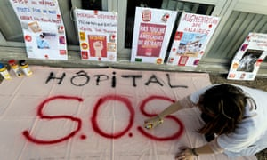 French hospital workers prepare to strike on 5 December against Macron's planned retirement reforms.