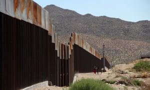 The border wall between Ciudad Juarez, Mexico and El Paso, Texas.