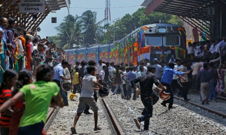 The Queen of Jaffna train arrives in Jaffna.