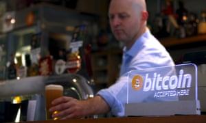 Publican Grant Fairweather accepts bitcoin in his Sydney pub