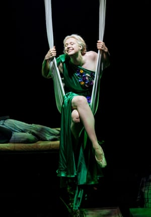 Gwendoline Christie, who played Brienne of Tarth, is in A Midsummer Night's Dream, directed by Nicholas Hytner, at the Bridge theatre.