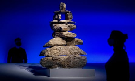 Silent Messenger, an artwork representing an Inuit land marker at the British Museum's Arctic exhibition