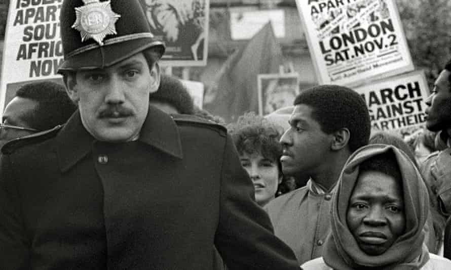 A 1985 anti-apartheid march, in which protesters called for Nelson Mandela to be released.
