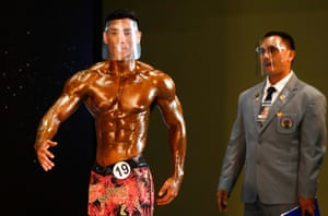 Bangkok, Thailand. The Mr Thailand 2021 bodybuilding contest, one of the country's main bodybuilding events