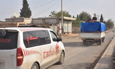 Kurdish medics injured in apparent attack on ambulance in Syria