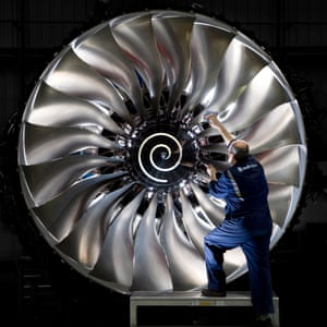 The Rolls-Royce Trent 1000 engine, which powers the Boeing 787 Dreamliner.