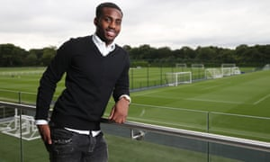 Danny Rose pictured at Tottenham's Enfield training ground after signing a new contract with the club.
