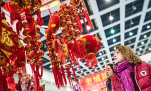 Decorations on sale for the Chinese lunar new year, Hubei.