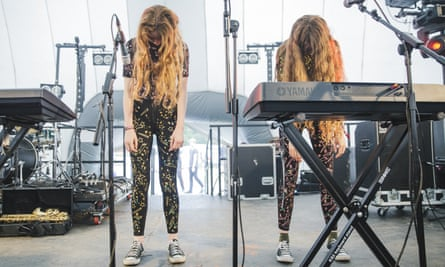 Let's Eat Grandma on the Nebula stage at Bluedot festival 2016.