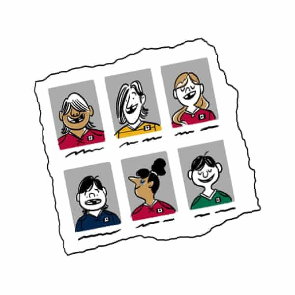 Illustration of Canadian ice hockey players
