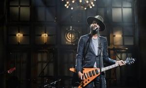 Gary Clark Jr. performs on Saturday Night Live.