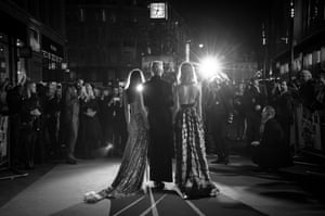 London, UK. Dakota Johnson, Tilda Swinton and Mia Goth attend the UK premiere of Suspiria, during the 62nd BFI London Film Festival