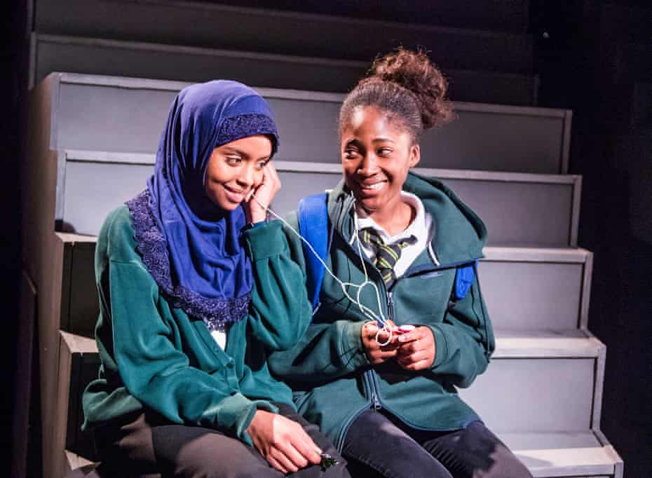Outstanding performances … Tsion Habte (Iqra) and Adelayo Adedayo (Muna) in Cuttin' It.