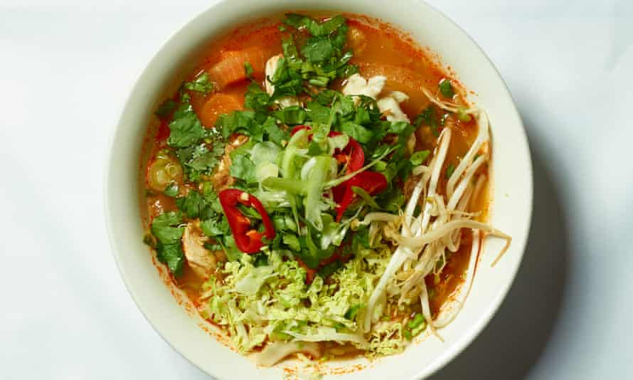 'A spiced broth you could get lost in': Cambodian mee noodles.