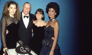 AJ Lambert (second right) with Frank Sinatra, Amanda Lambert, and Tina Sinatra