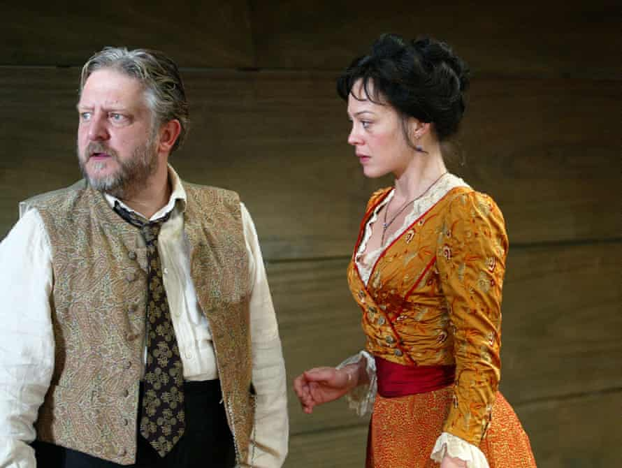 Simon Russell Beale as Vanya, with McCrory's Yelena.