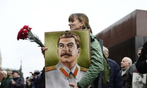 Celebration of Stalin's birthday in Moscow last month.