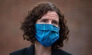 Annaliese Dodds wearing mask