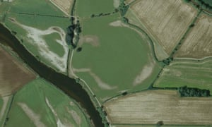 A Google Earth image of what could possibly be the site of a newly discovered henge in the village of Swarkestone