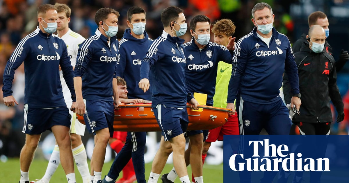 Liverpool victory over Leeds marred by serious injury to Harvey Elliott