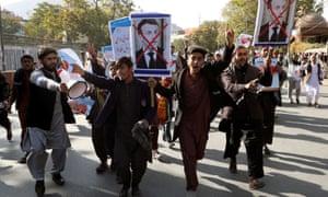 معترضین در کابل