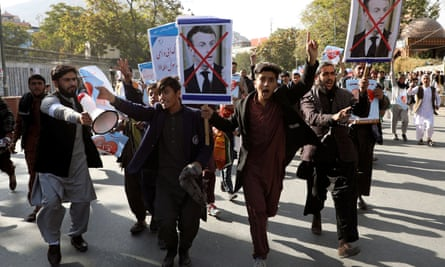 Protesters in Kabul