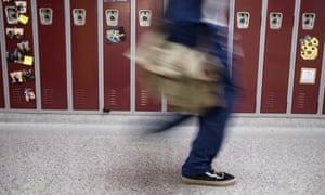 teen in school