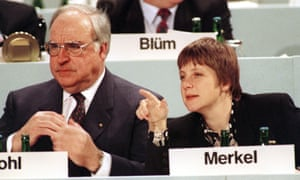 Angela Merkel with Helmut Kohl