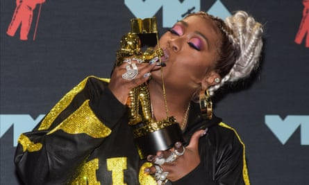 Missy Elliott at the MTV VMAs in Newark this week, where she was awarded the Michael Jackson video vanguard award.