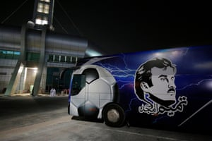 An image on the side of the Al Kharaitiyat team.