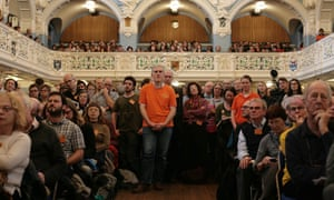 Attendees at the ORFC listen to Michael Gove speaking