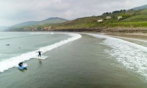 Kieran Meeke surfing on Inch Beach in Kerry.