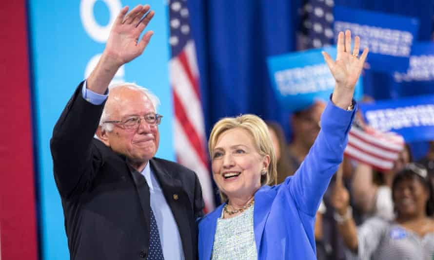 Clinton and Sanders in New Hampshire last year, when she received his endorsement. But now the pair's truce seems to have ended.