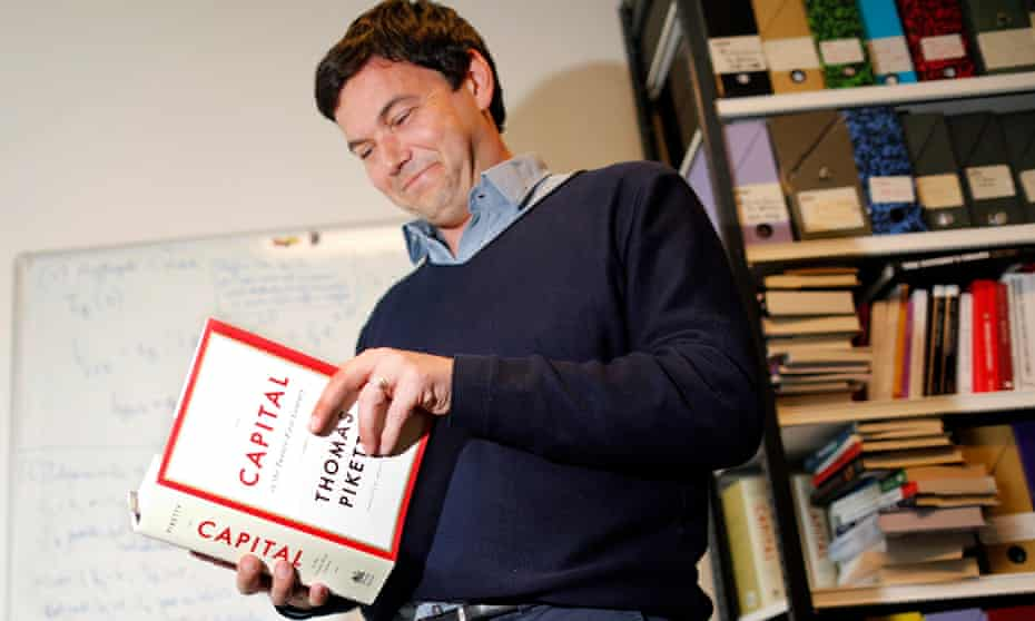 Thomas Piketty, French economist and academic, in his book-lined office at the French School for Advanced Studies in the Social Sciences in Paris.
