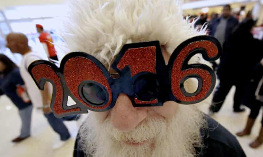 His job done for the year, Santa Claus has only the 2016 puzzle on his mind. (AP Photo/David J. Phillip)
