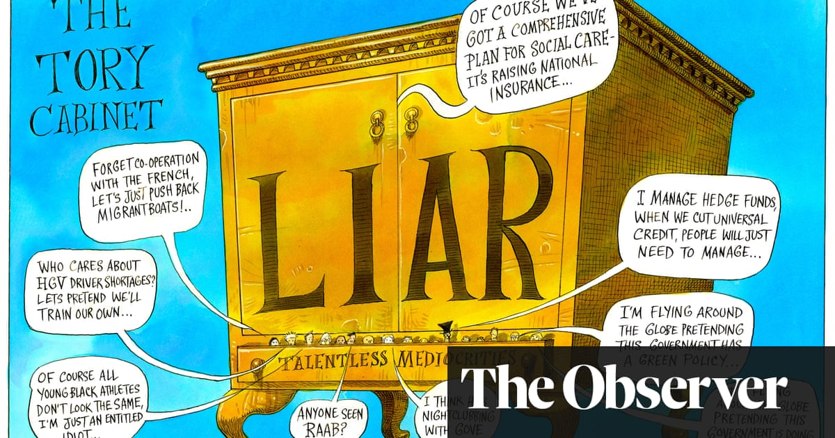 The Tory cabinet of mediocrities – cartoon