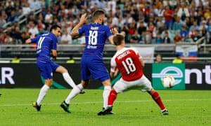 Chelsea's Pedro scores their second goal
